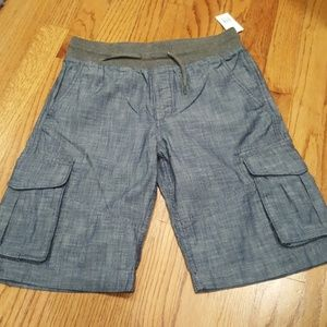 NWT Gap Boy's Chambray cargo shorts drawstring
